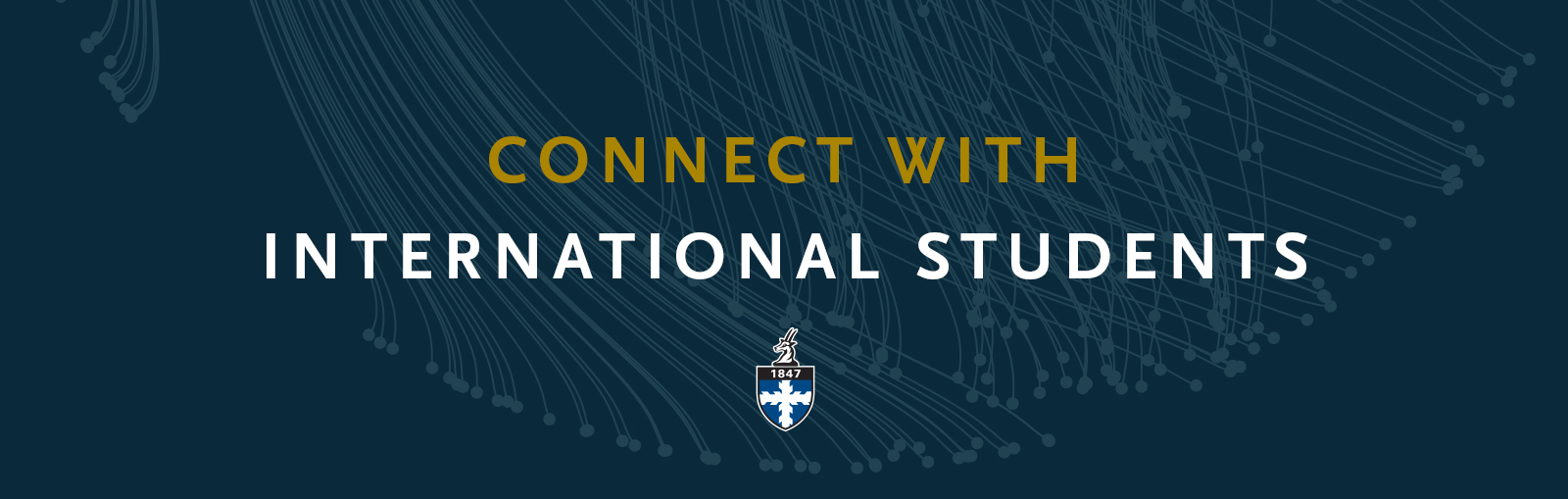 "Banner that reads ""Connect with International Students"""