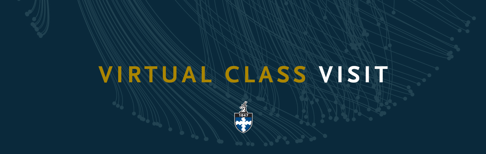 Banner that says Virtual Class Visit